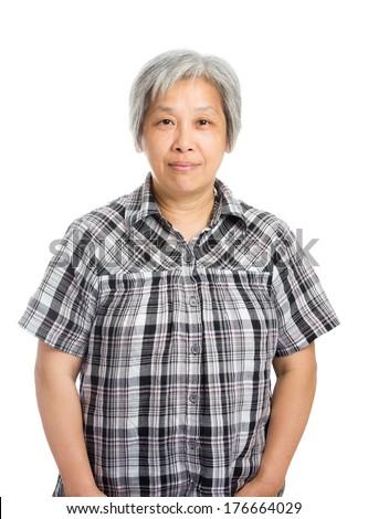 Asia old woman - stock photo