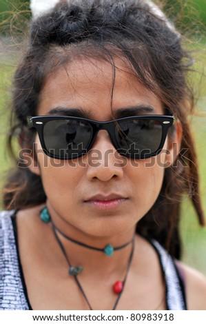 Asia Regge Woman Face Thailand - stock photo