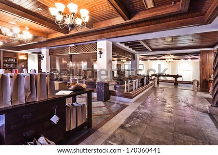 asia style tea room interior