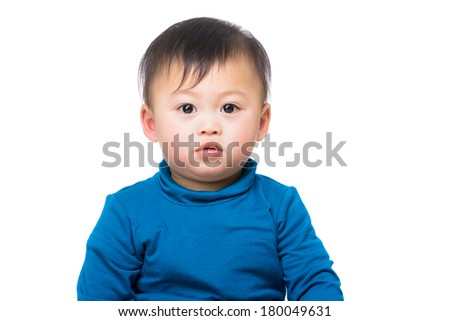 Asian baby boy isolated - stock photo