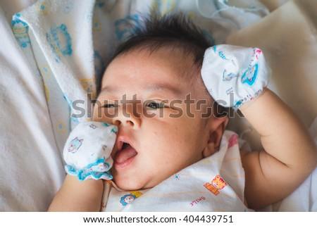 Asian baby boy newborn - stock photo