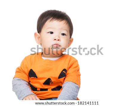 Asian baby boy with halloween party dressing - stock photo