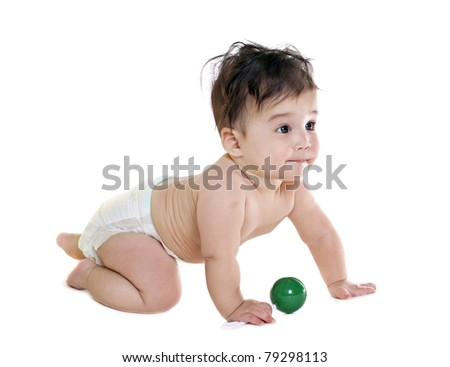 asian baby boy with toy