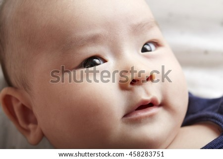 Asian Baby ,different emotional expressions