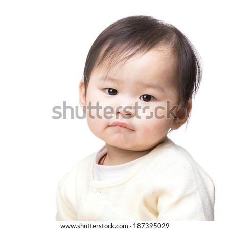 Asian baby girl - stock photo