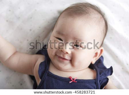 Asian Baby ,happy emotional expressions