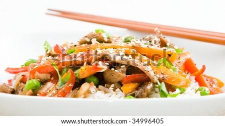 Steak And Peppers In Black Bean Sauce Recipe — Dishmaps