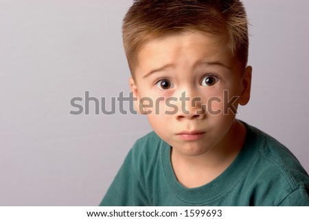 Asian boy making a Surprised Face - stock photo