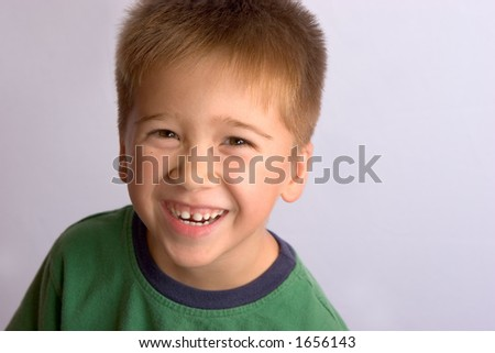 Asian boy with Happy Expression