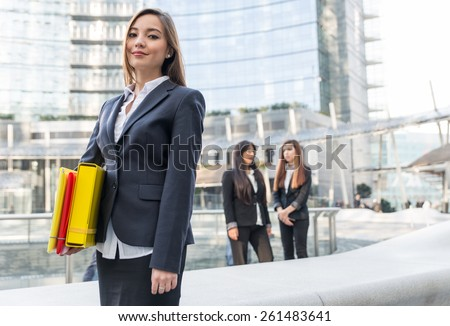 asian business woman portrait. concept about finance and business - stock photo