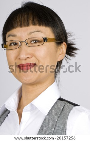 Asian Business Woman with Glasses