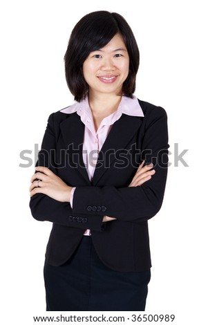 Asian business women. Confident Asian business women with smiling.