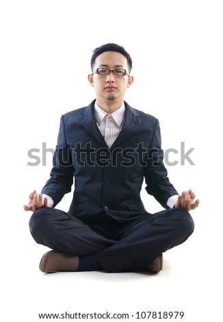 asian business yoga - stock photo