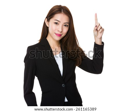 Asian businesswoman counting  - stock photo