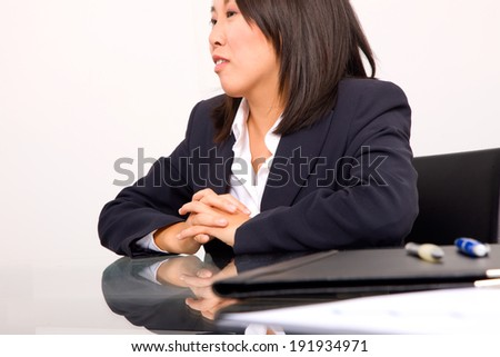 asian businesswoman in office - stock photo