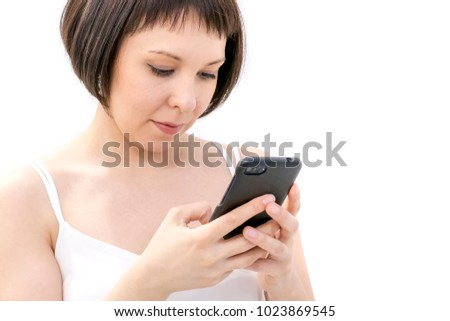 Asian businesswoman use smartphone