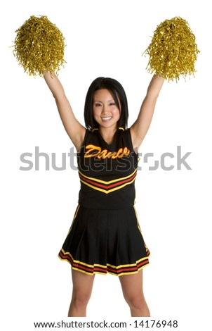 Asian Cheerleader - stock photo