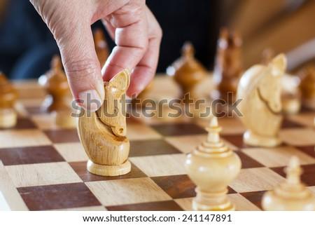 Asian Chess board  - stock photo