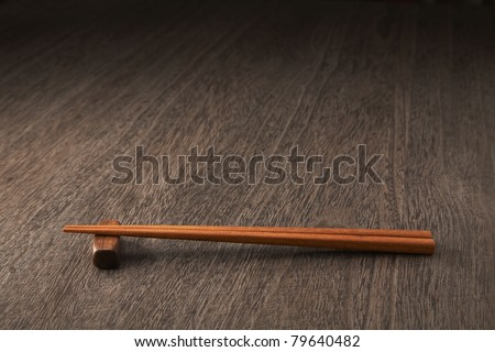 Asian chopstick on the table. - stock photo