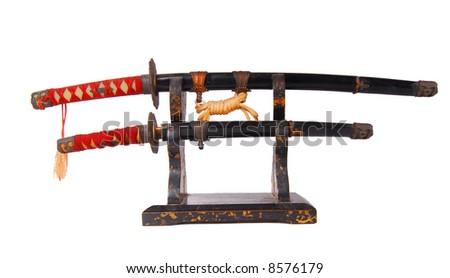 Asian Combat Swords - stock photo