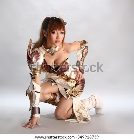 asian cosplay girl japanese style - stock photo