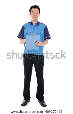 asian delivery male - stock photo