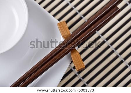 Asian dinnerware set. & Asian Dinnerware Set Stock Photo 5001373 - Shutterstock