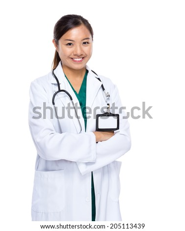 Asian doctor woman - stock photo