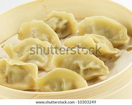 Asian Dumplings - stock photo
