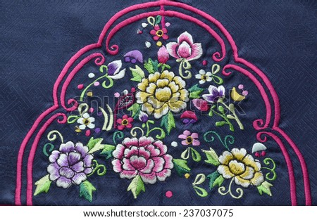 Asian Embroidery - stock photo