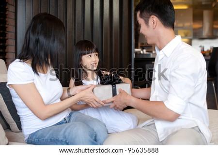 Asian Family Lifestyle - stock photo