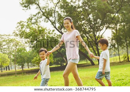 Asian Family Mom Two Twins Boys Stock Photo 368744927 - Shutterstock