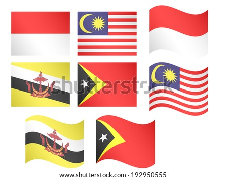 Asian Flags 4