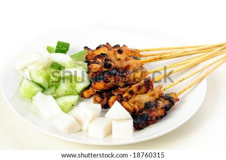 Asian food - Satay - stock photo