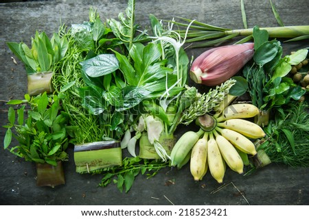 Asian Fresh Vegetables, product from nature - stock photo