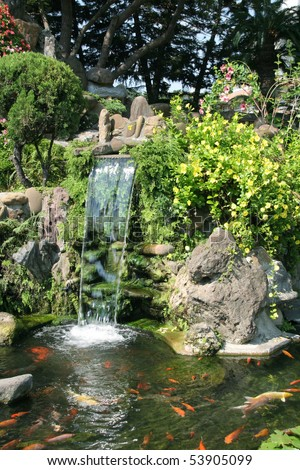 Asian Garden - stock photo