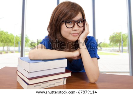 Asian girl in the classroom - stock photo