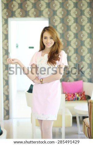 asian girl on fashion dress