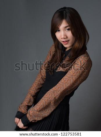 Asian girl sexy pose - stock photo