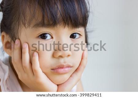 Asian girl so sad. - stock photo
