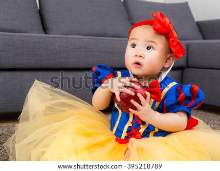 Asian girl with halloween party dressing - stock photo