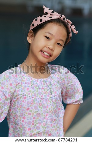 Asian girl with smiling - stock photo
