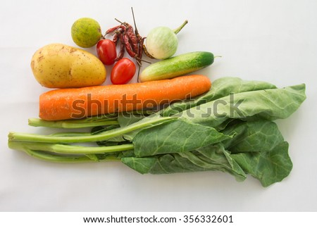 Asian hot and spicy ingredients food - stock photo