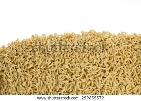 asian instant noodles isolated on white background