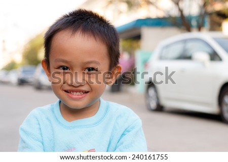Asian kid - stock photo