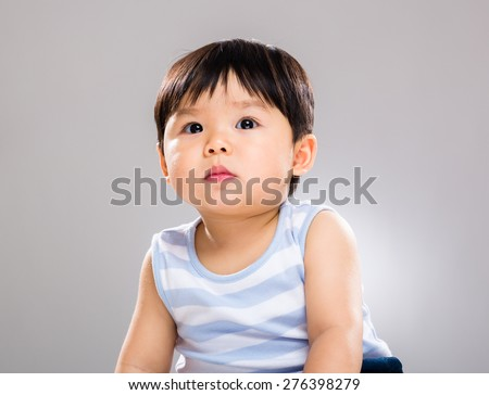 Asian little boy - stock photo