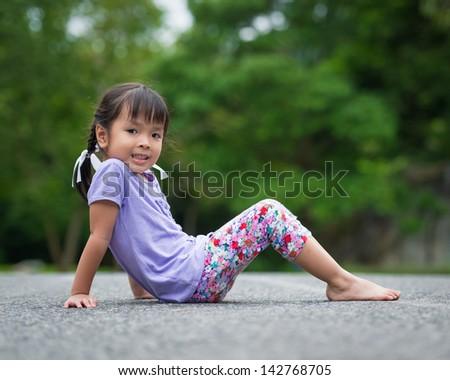 asian little girl - stock photo