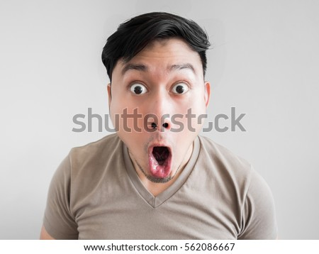 Asian Man Feels Shock Surprise Overly Stock Photo ...