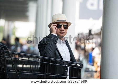 Asian man in business look.