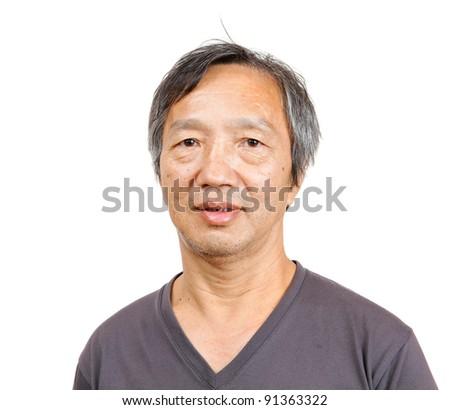 asian mature man - stock photo